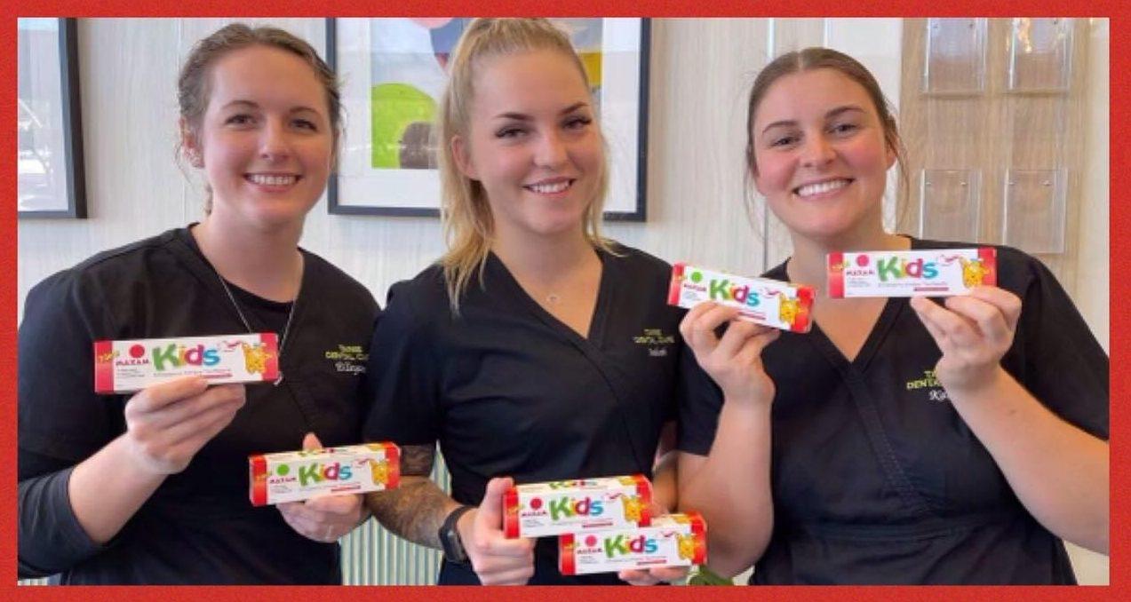 maxam strawberry toothpaste at taree dental care